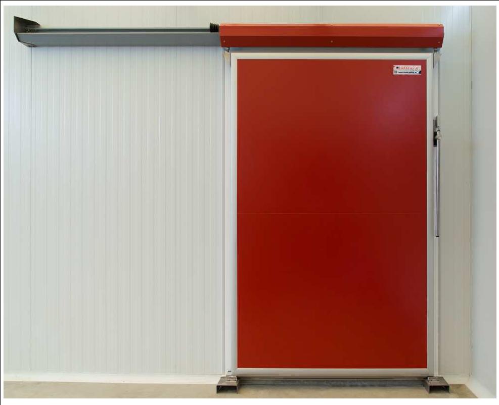 Isot rmica puerta corredera frigorifica mod ipa industrial - Puerta corredera industrial ...